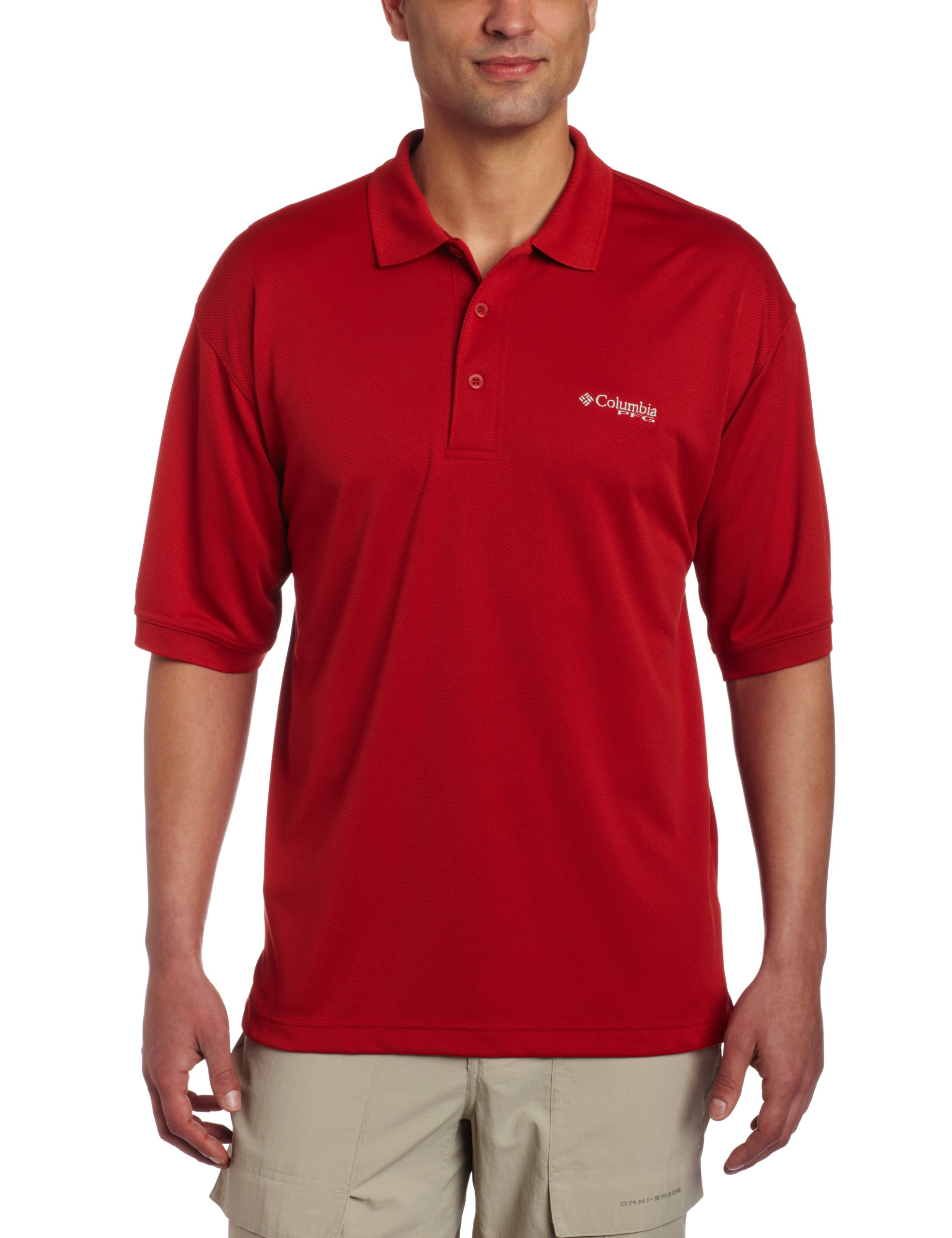 Columbia Men's Perfect Cast Polo, Sail Red, Small