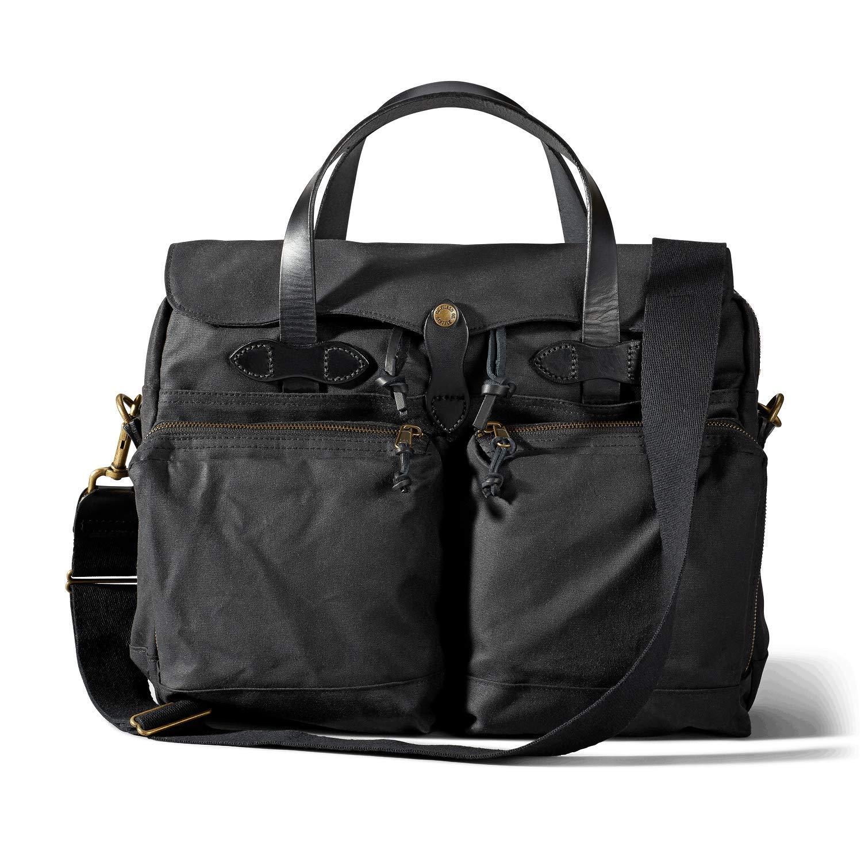 FiLSON 24-Hour Tin Cloth Briefcase - Black