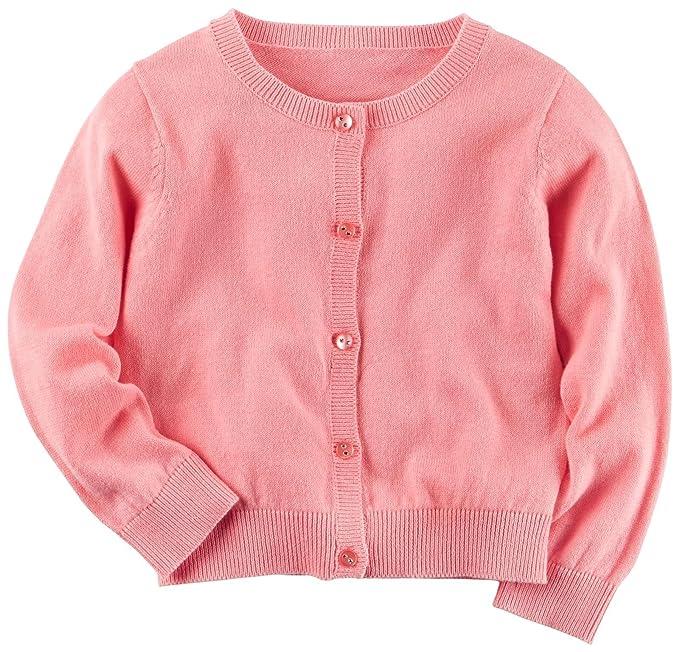 Amazon.com: De Carter bebé Niñas chaqueta de punto, recién ...