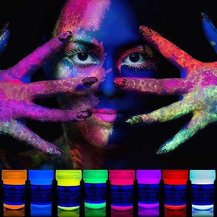 Neon Nights 8 X UV Body Paint Black Light Make Up Bodypainting Blacklight Bodypaint