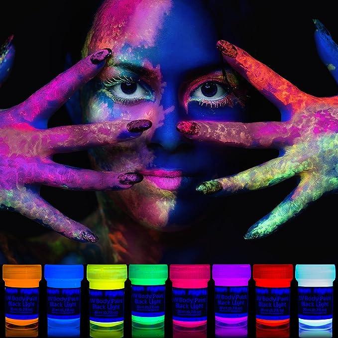 150 opinioni per Neon Nights luce UV Body Painting schminke | Nero di luce corpo colore per Body