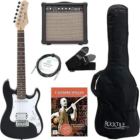 Rocktile Sphere Junior guitarra electronica 3/4 negro SET incl ...