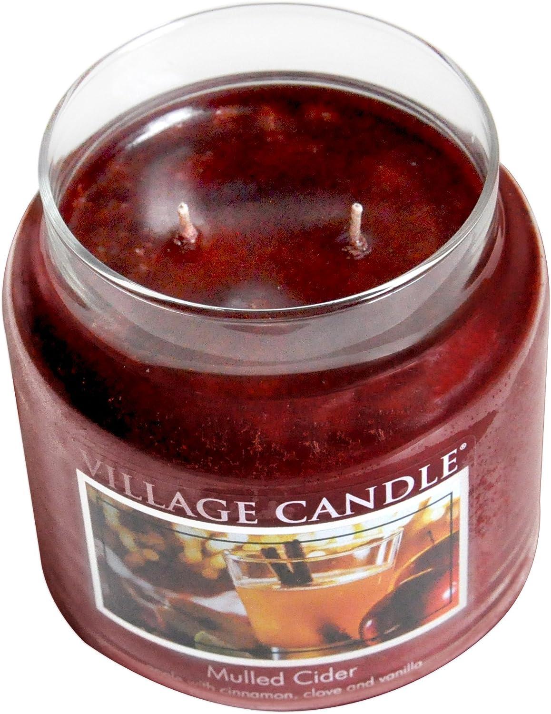 Village Candle Mulled Cider 26 oz Glass Jar Scented Candle, Large: Home & Kitchen