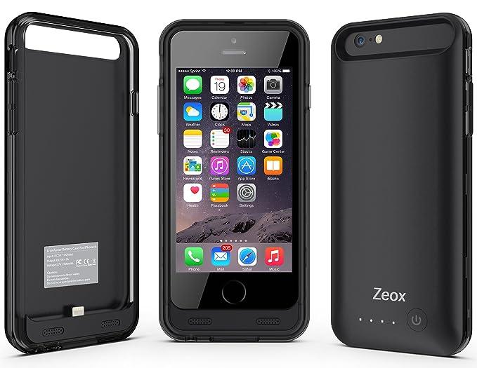 Amazon.com: iPhone 6 Funda Cargador de batería Caso, zeox ...