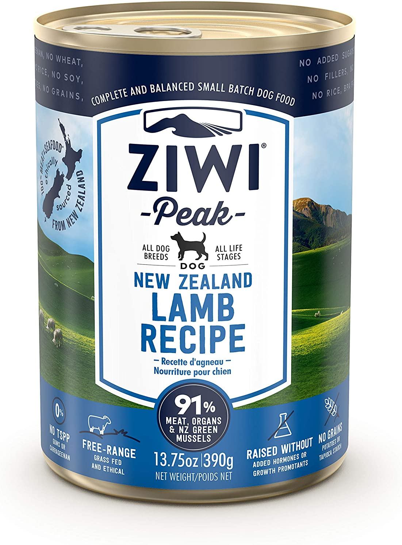Ziwi Peak Alimento Húmedo para Perro, Sabor Cordero - Paquete de 12 x 390 gr - Total: 4680 gr
