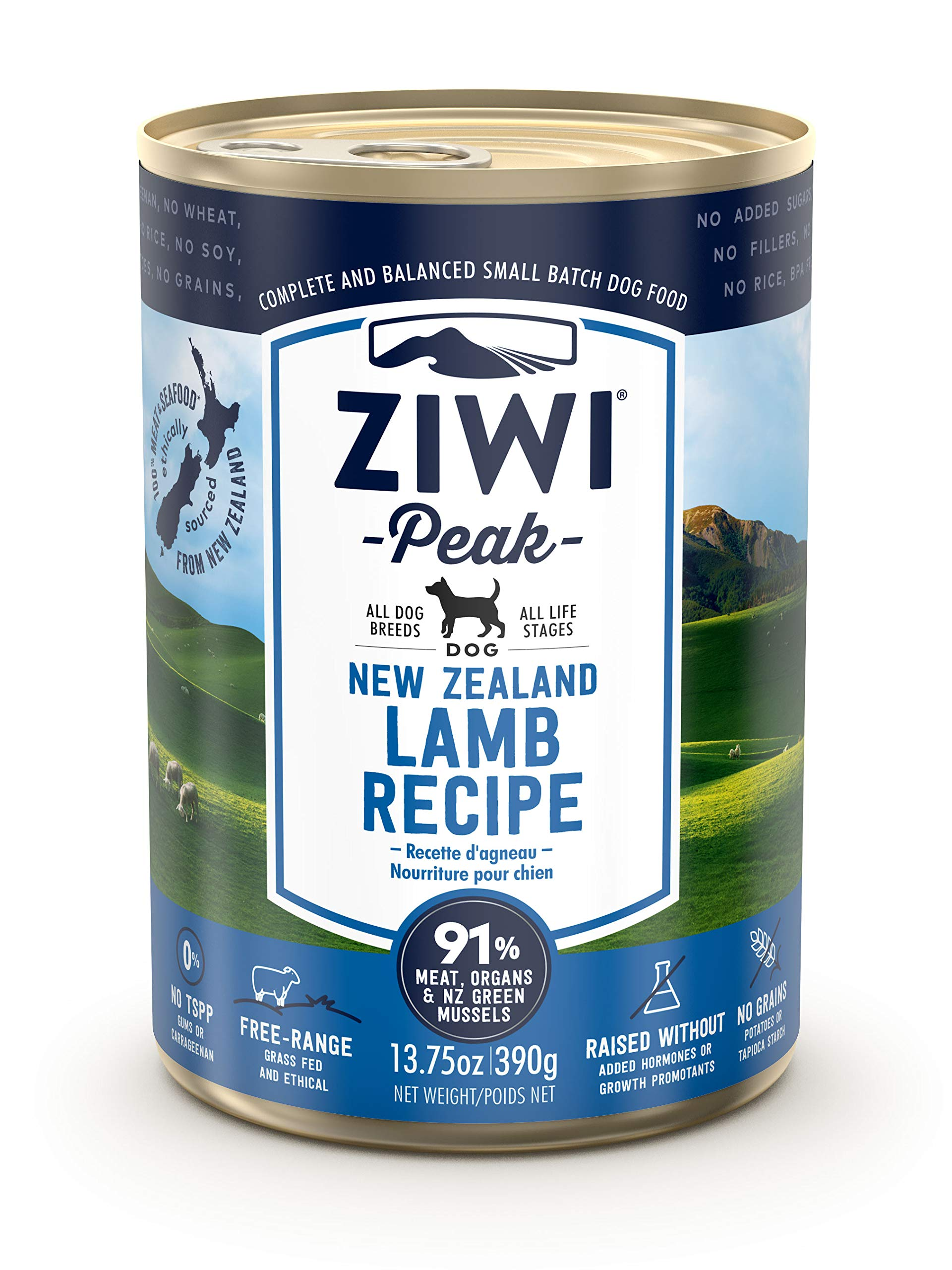 Ziwi Peak Canned Lamb Recipe Dog Food (Case of 12, 13.75 oz. each) by Ziwi Peak