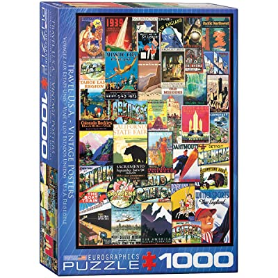 EuroGraphics Travel USA Vintage Ads Jigsaw Puzzle (1000 Piece): Toys & Games