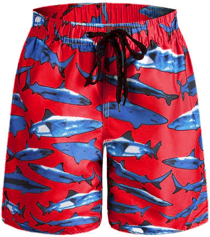 Classic-Fit Boys Big /& Tall Cargo Short Board Shorts for Beach Gym Surf