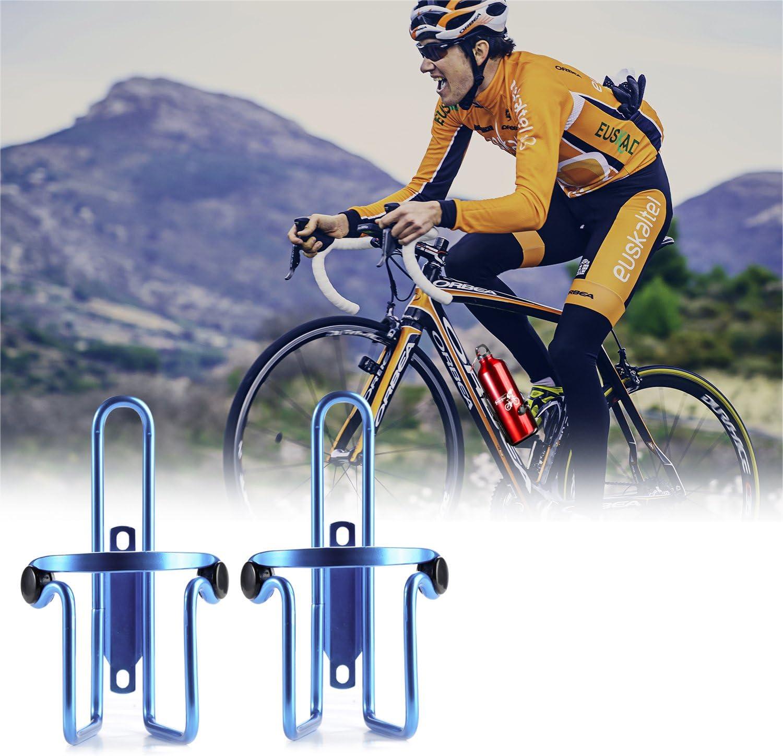 2er Pack iBuger Flaschenhalter Fahrrad Aluminium Wasser Flasche K/äfig Halter Rack