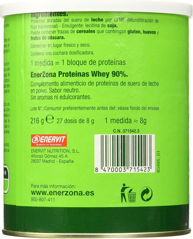 Enerzona Proteína Whey 90% - 200 gr: Amazon.es: Salud y ...