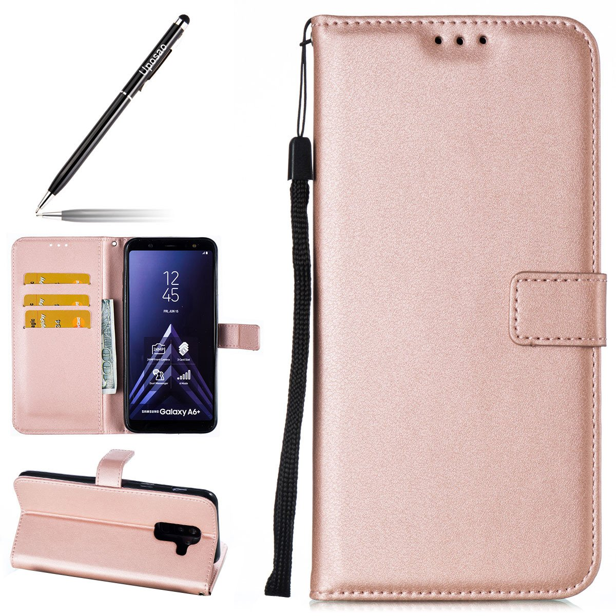 Coque pour Samsung Galaxy A6 Plus 2018 Samsung Galaxy A6 Plus 2018 Rose Gold Uposao PYHT00027531