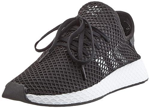 best sneakers factory price official site adidas Herren Deerupt Runner Fitnessschuhe, Blanc/Noir