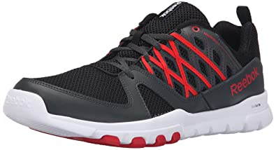 Reebok Men's Sublite Train RS 2.0L Training Shoe, Black/Gravel/Red Rush