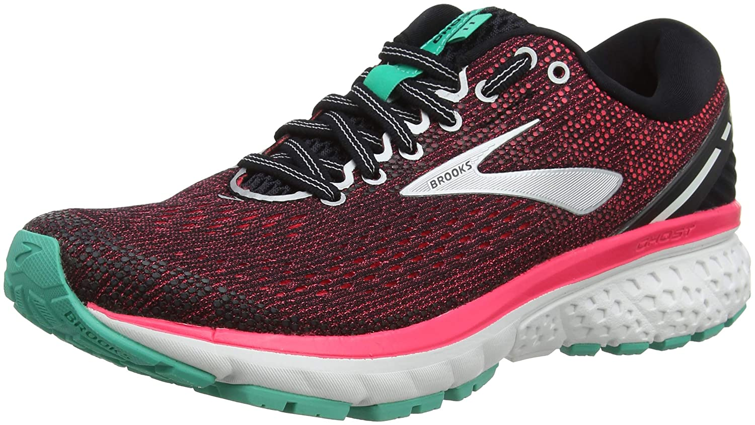 Black Pink Aqua Brooks Women's Ghost 11 Running shoes