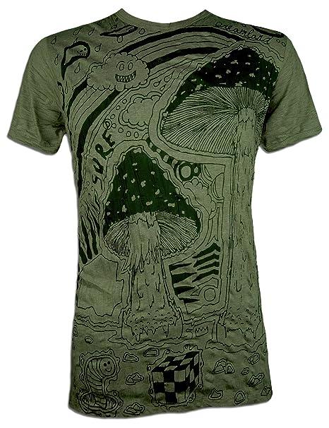 Sure Camiseta Hombre Setas Mágicas Talla M L XL Arte Psicodélico Cáñamo Hippie Alucinógeno SDDDSi