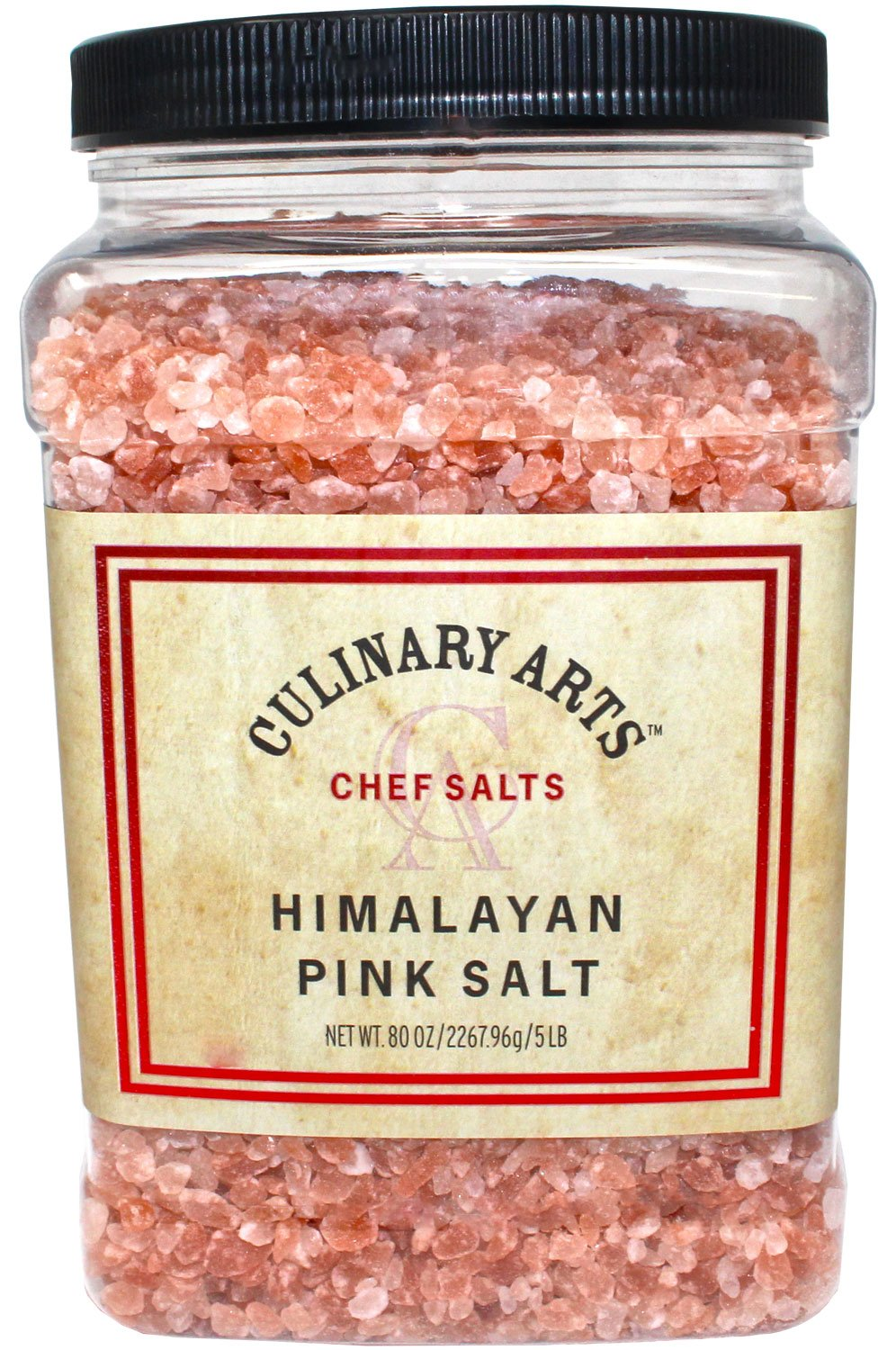 Culinary Arts Pink Himalayan Coarse Salt Pure Gourmet Crystals Nutrient and Mineral Fortified for Health