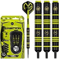 WINMAU Michael van Gerwen MvG Ambition Messing Steeltip Darts Set 22g met MvG Vluchten en Nylon Schachten (Stengels)