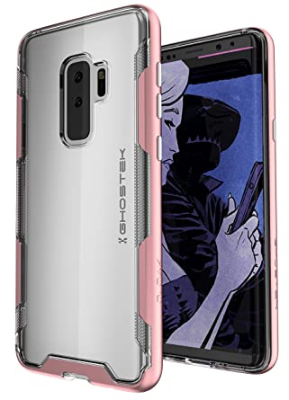 Ghostek Cloak Crystal Clear Protective Case Compatible with Galaxy S9 Plus - Pink
