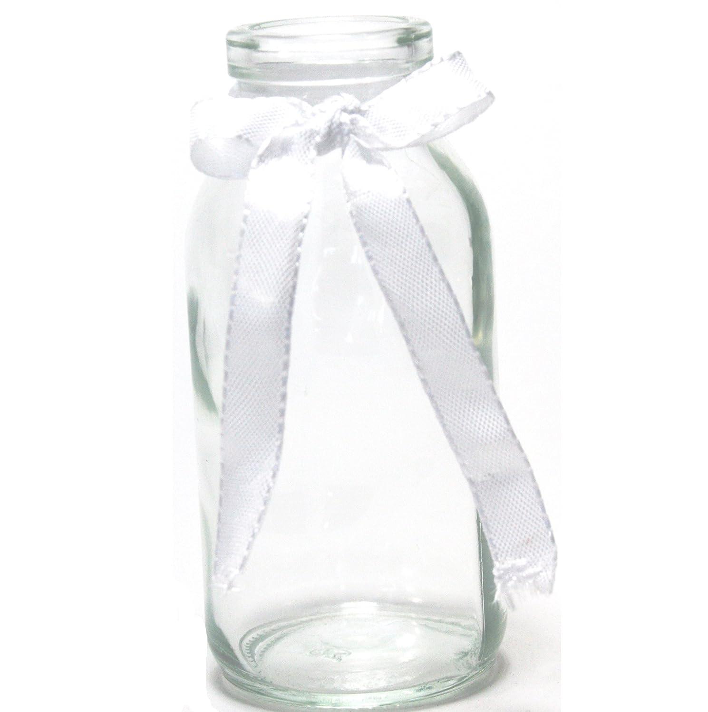 Amazon 12 x Glasfläschchen im Landhausstil H 10 5 cm Vasen