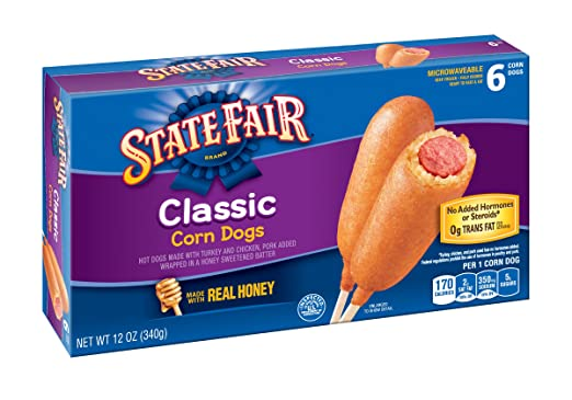 State Fair, Corn Dogs, Classic, 6 ct (frozen): Amazon.com: Grocery & Gourmet Food
