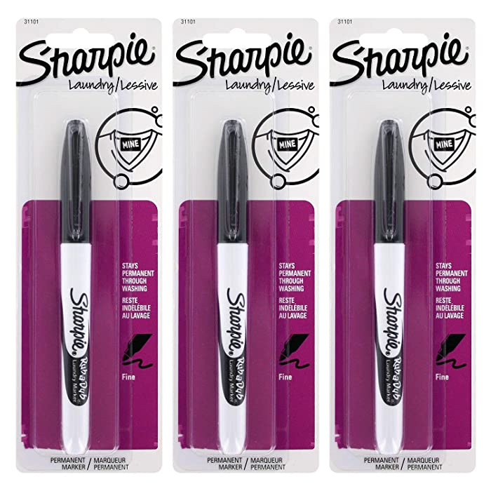 Sharpie Rub-A-Dub Laundry Marker, Pack of 3 (SN31101PP-2)