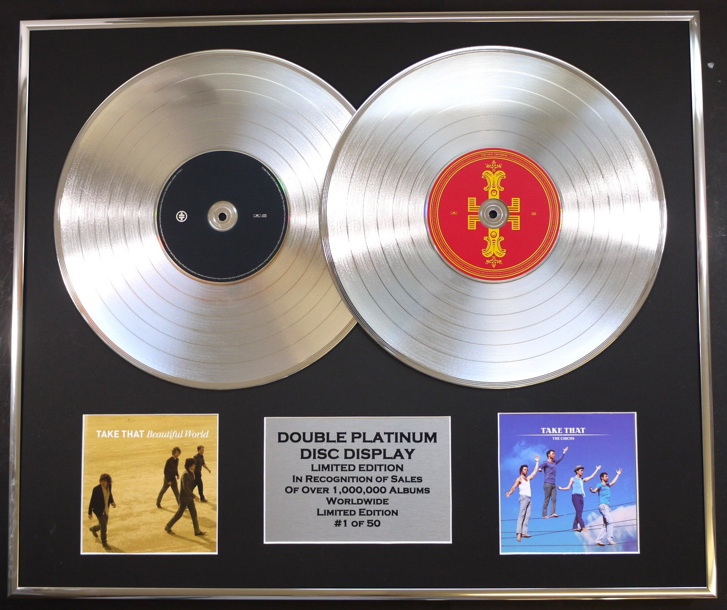 Home Accessories TAKE THAT/DOUBLE CD PLATINUM DISC RECORD
