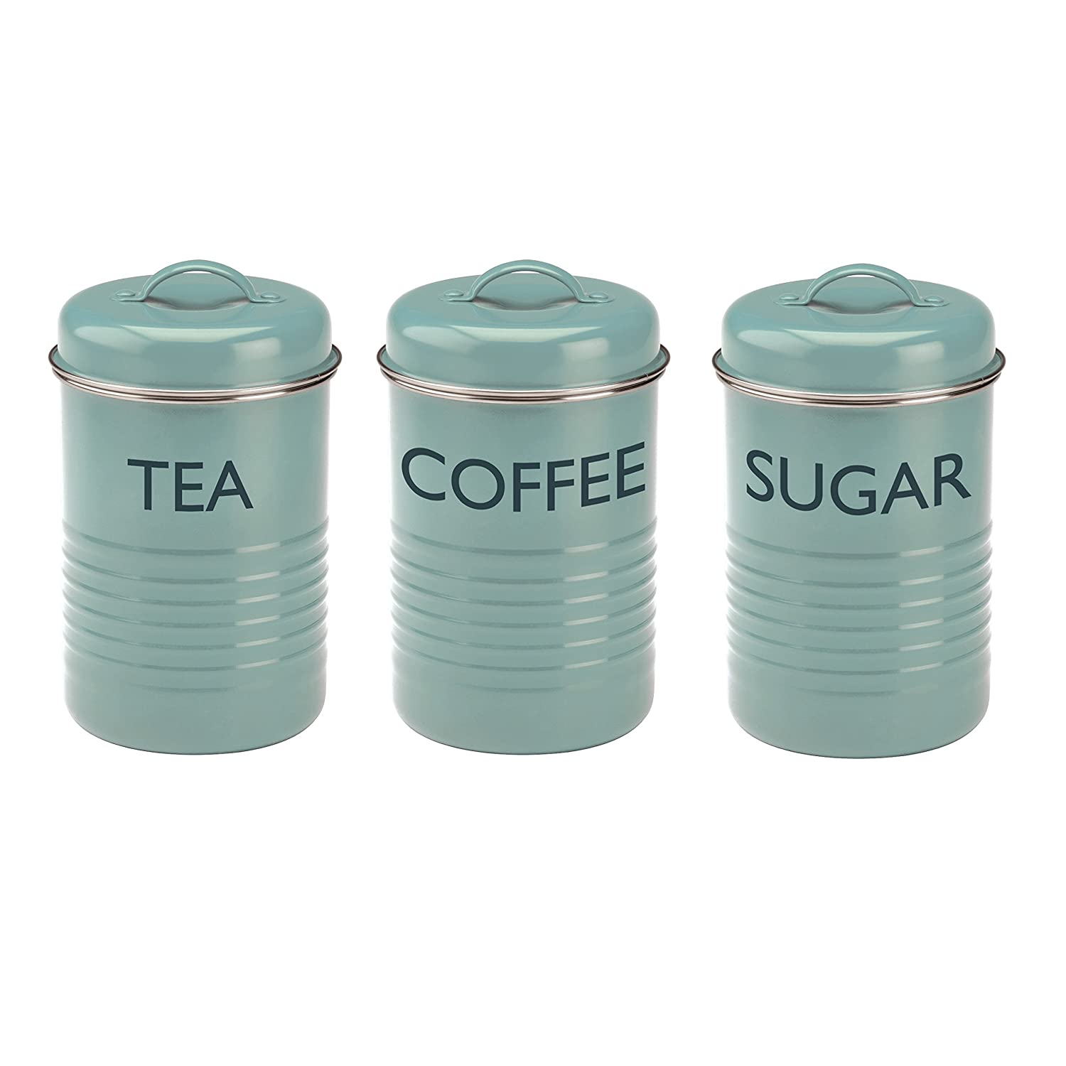 Nice Kitchen Canisters Blue Pictures >> Flour And Sugar Canisters ...