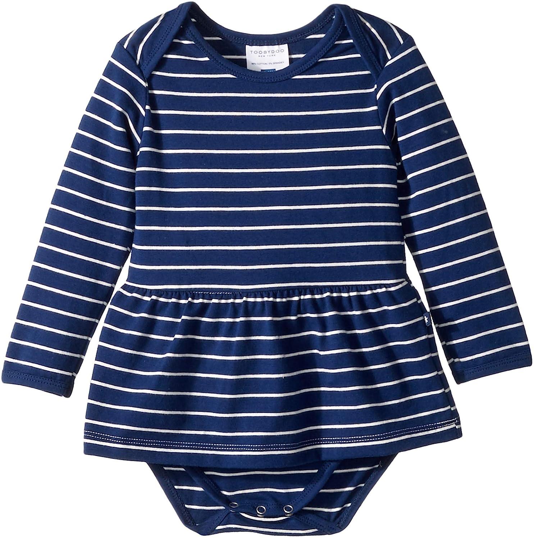 Toobydoo DRESS ガールズ 0 - 3  Months Navy Stripes B07DVVD9DJ
