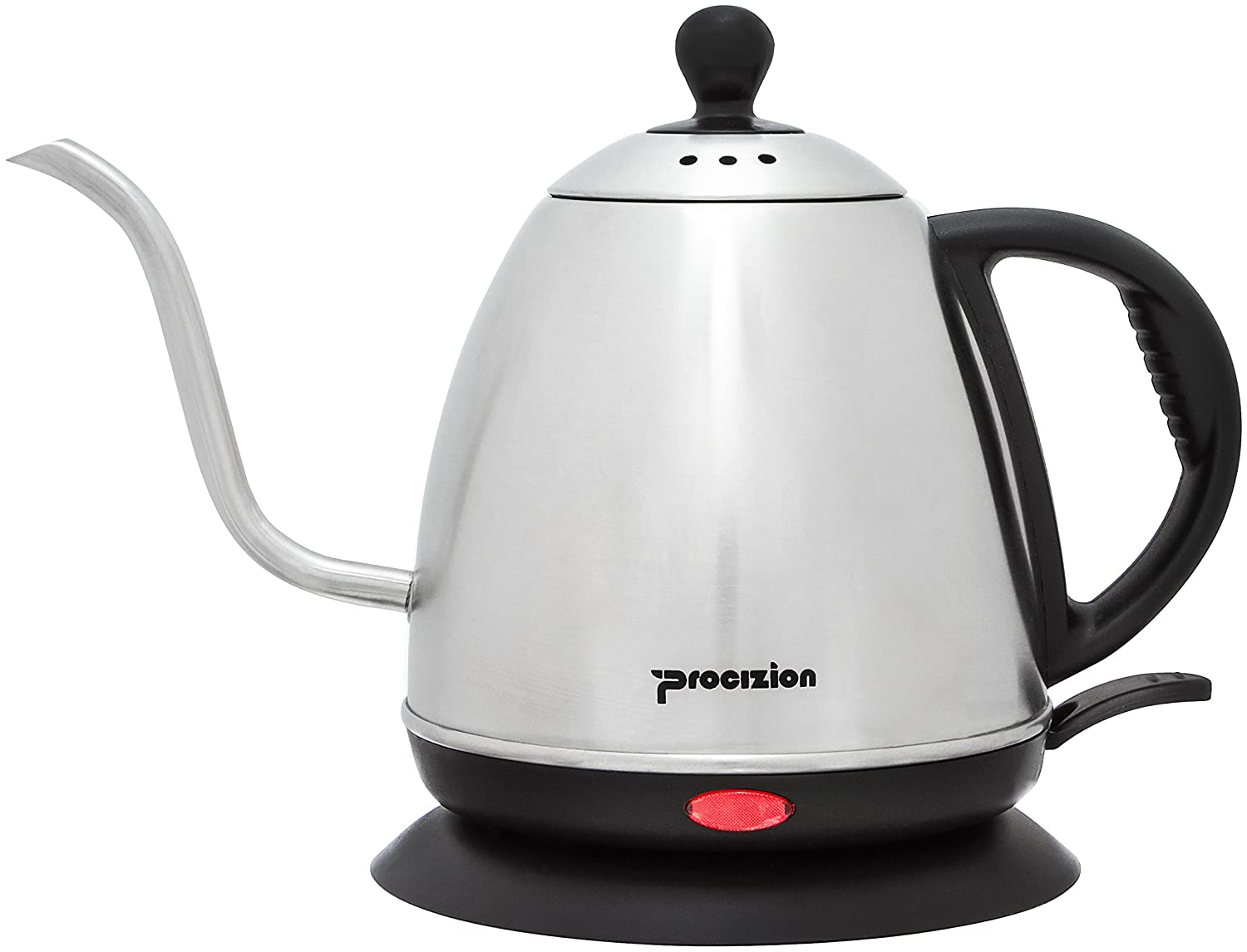 Electric Gooseneck Kettle by Procizion - Electric Pour Over Drip Kettle, Make the Perfect Coffee or Tea - Modern and Durable Stainless Steel Kettle, BPA Free, 1L Electric Coffee and Tea Pot Kettle