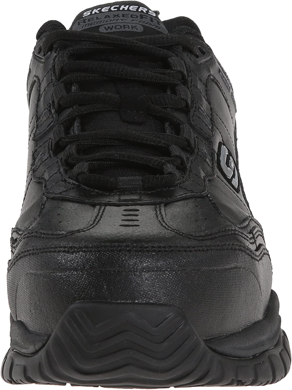 Skechers for Work Mens Soft Stride-Chatham Lace-Up Slip Resistant Sneaker