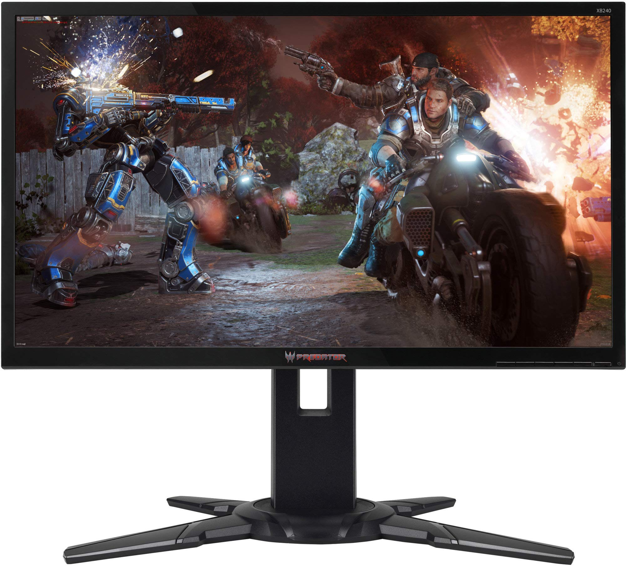 Acer Predator XB240HBbmjdpr 24 Inch FHD Gaming Monitor, Black (TN Panel, 144 Hz, 1 ms, DP, HDMI, DVI, Height Adjustable Stand)
