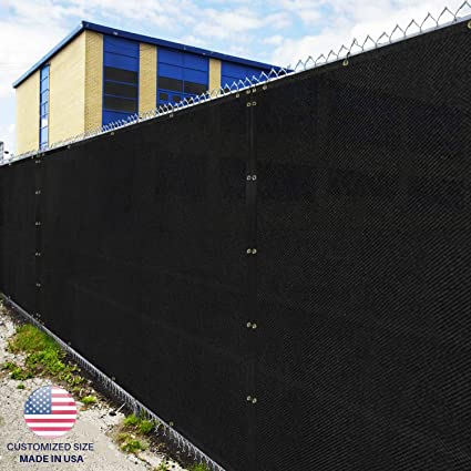 289707602b1 Amazon.com   Windscreen4less Heavy Duty Privacy Screen Fence in Color Solid  Black 6  x 50  Brass Grommets w 3-Year Warranty 150 GSM (Customized Sizes  ...