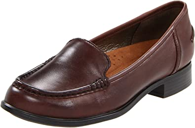 82e5d83acc3 Hush Puppies Blondelle Womens Brown Leather Loafers Shoes Size 8 UK UK 8