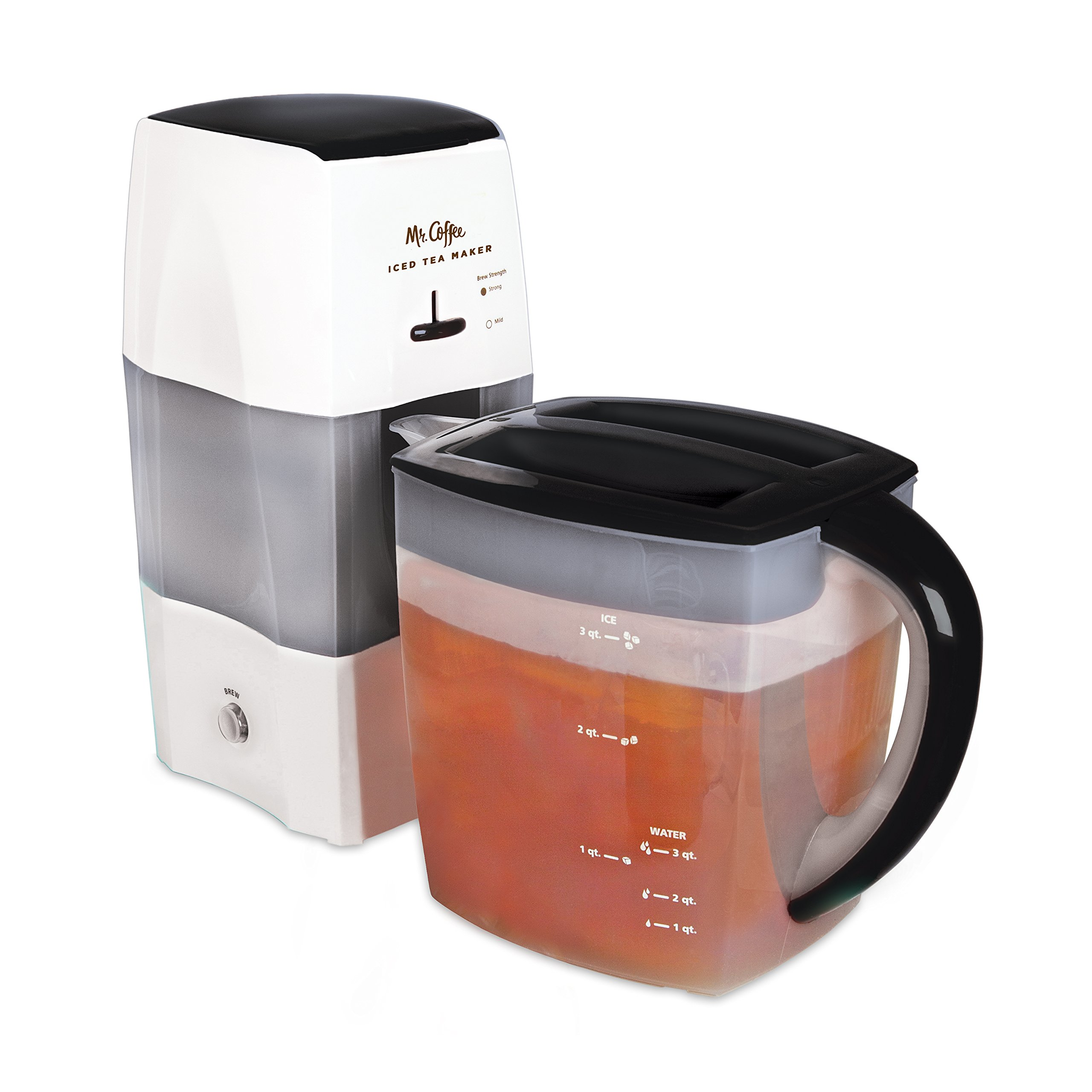 Mr. Coffee 3-Quart Iced Tea and Iced Coffee Maker, Black by Mr. Coffee