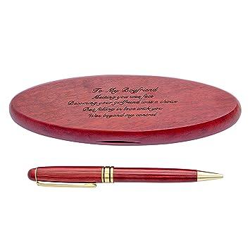 Juego de bolígrafos de palisandro personalizados, estuche de ...