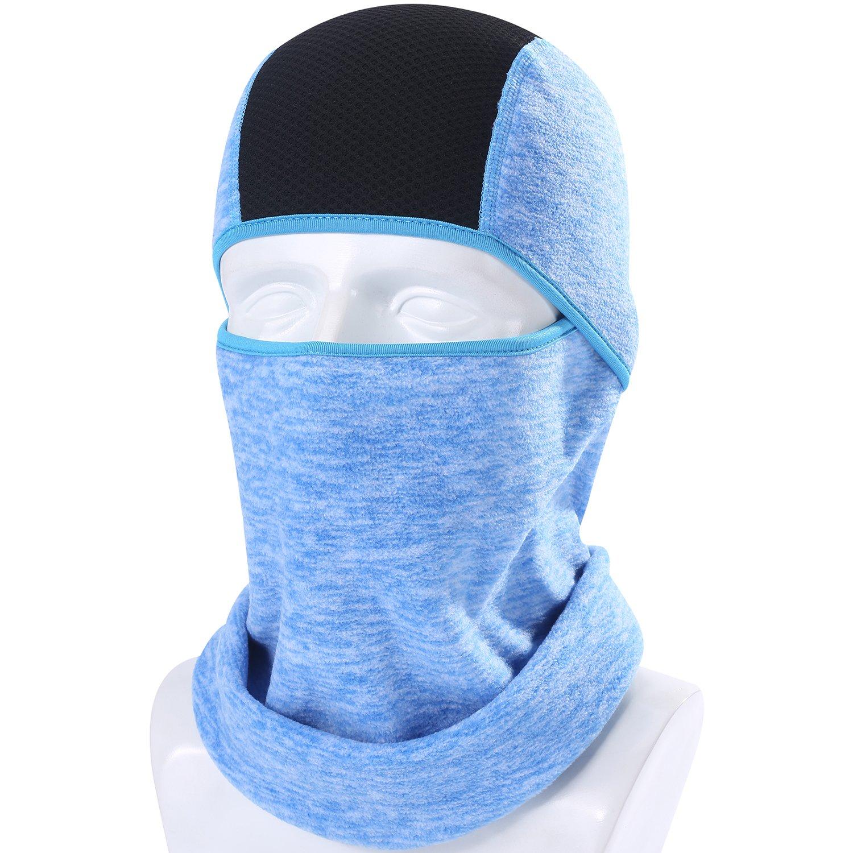 AXBXCX Balaclavaフリースフード - 防風スキーマスク - 寒い天気フェイスバイクマスクネクタイウォーマーサイクリングスカルキャップサーマルスカーフランニングスノーボード用冬フィッシングブルー04   B07FD6L3FR