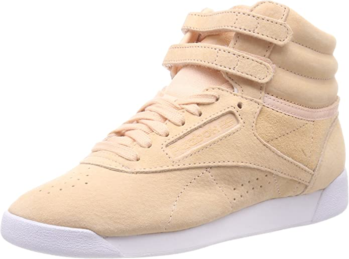 Reebok Freestyle Hi Sneakers High Top Damen Schuhe Hellbraun (Desert)