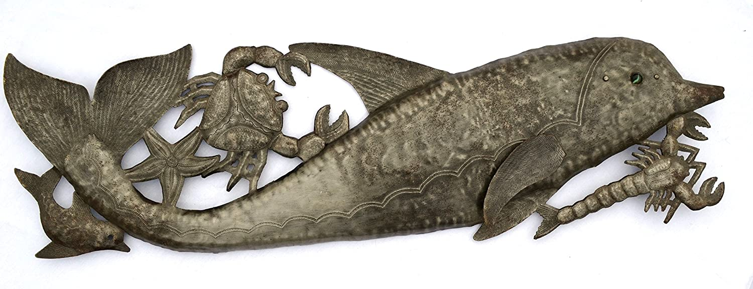 Metal Dolphin Wall Art
