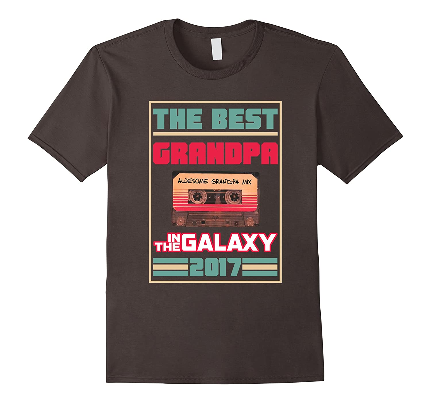 Mens Best Grandpa In The Galaxy Father's Day T-Shirt