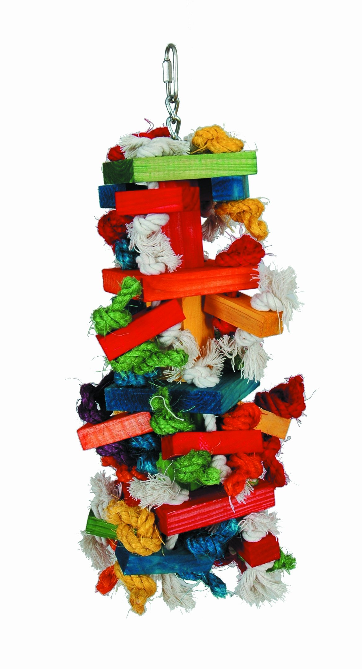 Paradise Knots &Blocks Chewing Toy, Colorful & Entertaining, Keeps Birdy Happy, Large, 16'' x 6'' x 6'' inches by Paradise Toys