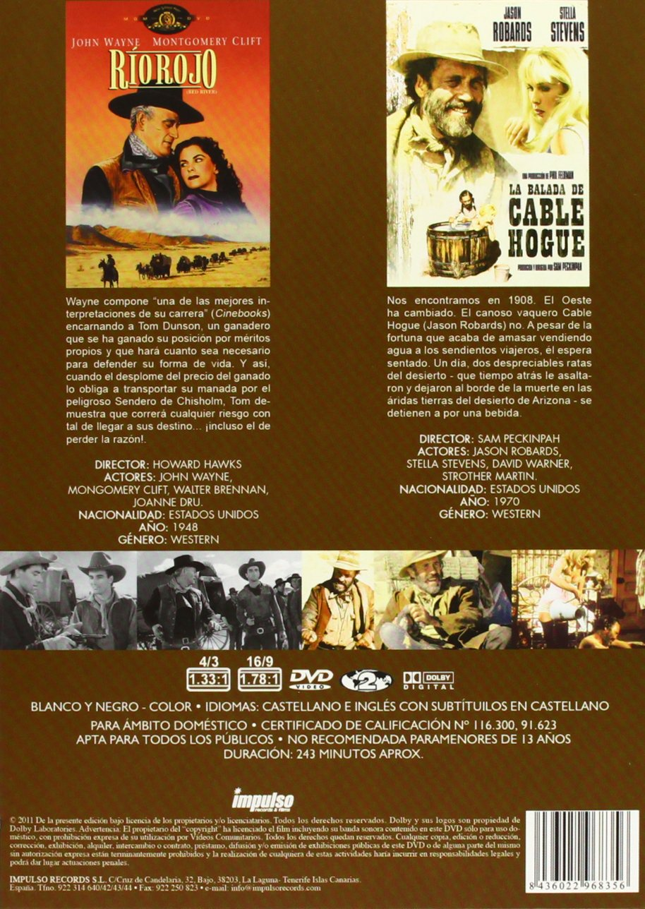 Rio rojo / La balada de Cable Hogue [DVD]: Amazon.es: varios ...