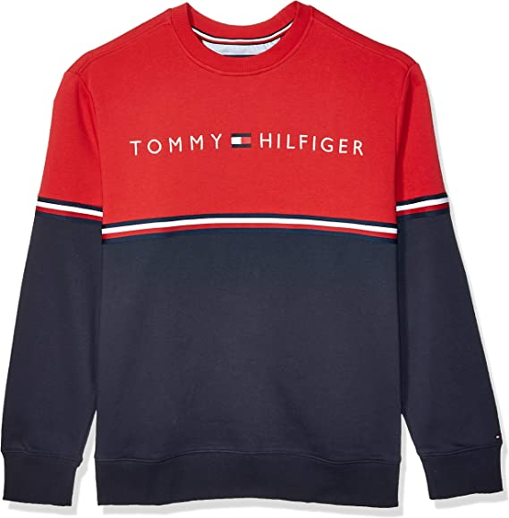 Tommy Hilfiger Herren Organic Cotton Cable Crew Neck Sweatshirt
