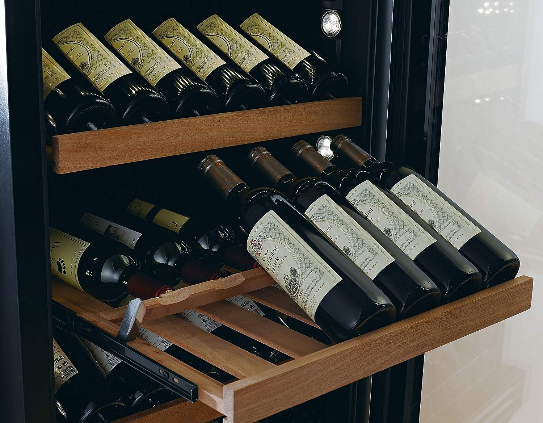 // inkl Multifunktionaler Black Edition 2-Zonen Weintemperierschrank WLB-460DFLD mit GASTRO Ausstattung D 168-200 Fl. Lieferung aufs Stockwerk