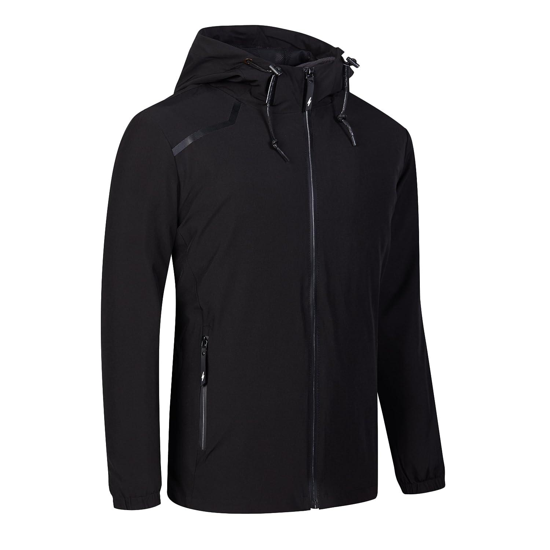 95d22d497abc8 Amazon.com   UDAREIT Womens Windbreaker Jacket Waterproof Rain Coat Hooded  Hiking Running   Sports   Outdoors