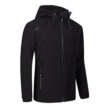 UDAREIT Womens Windbreaker Jacket Lightweight Waterproof Rain Jacket Coat  Hooded Active Outdoor Hiking Running Coats Plus 6ea0e48a40