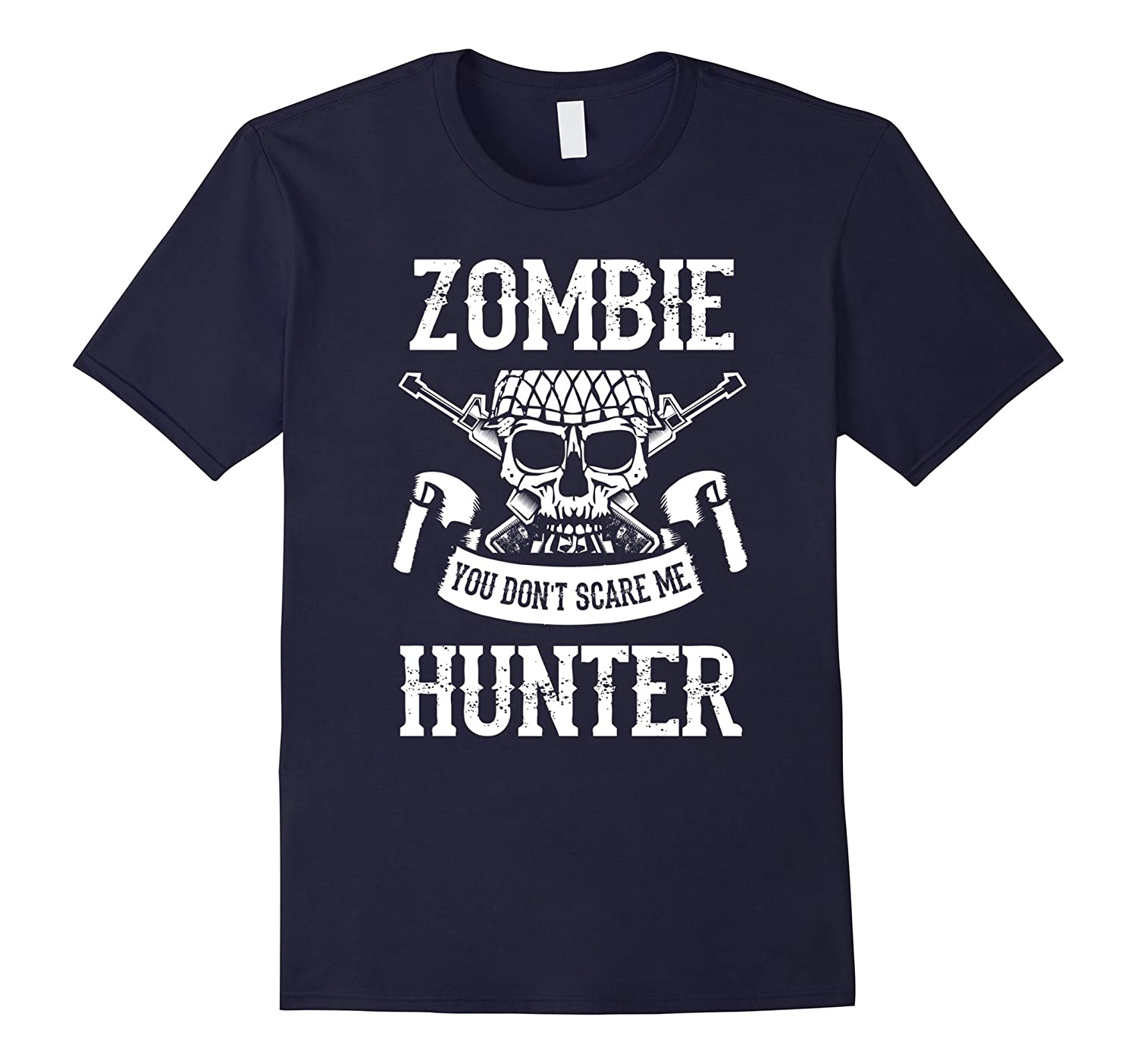 Zombie Hunter You Don't Scare Me T-Shirt-Rose
