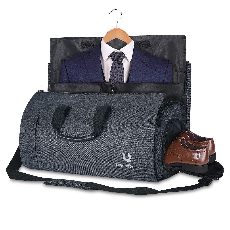 Carry-on Garment Bag Large Duffel Bag Suit Travel Bag Weekend Bag Flight Bag with Shoe Pouch for Men Women - Dark Grey1