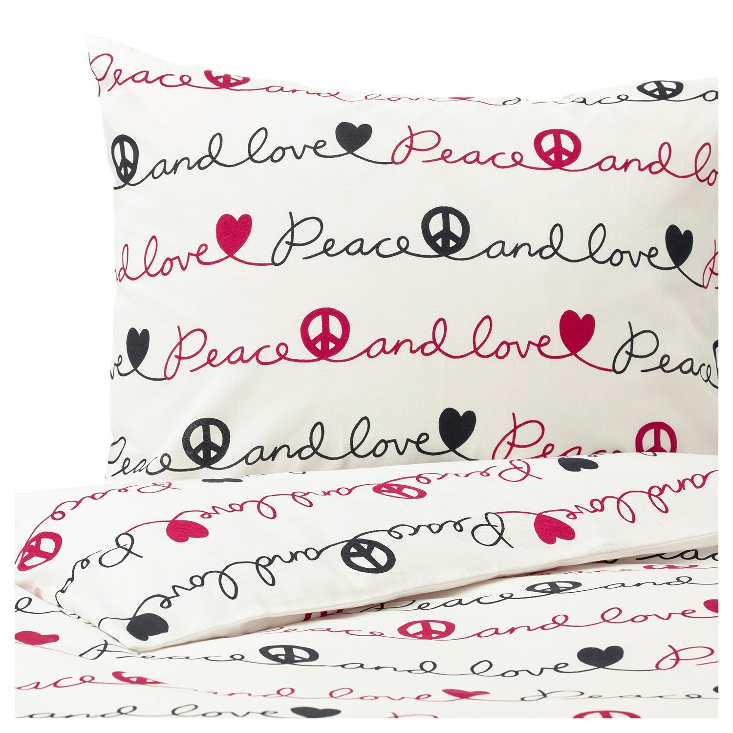 Peace and Love Duvet Set, Twin