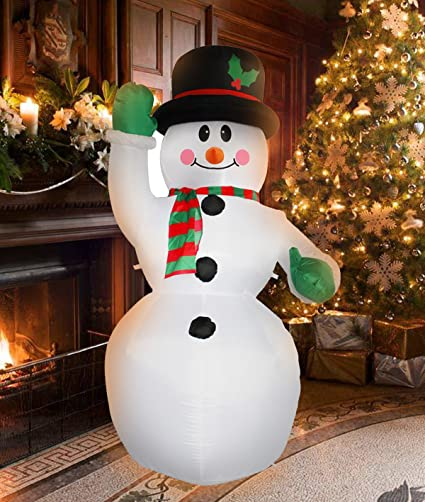 7 ft inflatable christmas snowman decorations for indoors outdoors home yard lawn garden decor