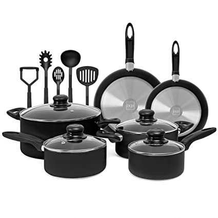 Amazon Com Best Choice Products 15 Piece Nonstick Cookware Kitchen